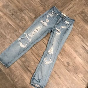 Women's Garage Mom Fit Distressed Jeans